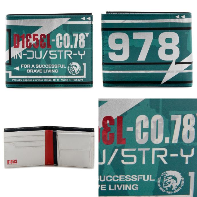 DIESEL/ディーゼル  MONEY-MONEY HIRESH SMALL 二つ折り財布 X01983 PR795 H4872